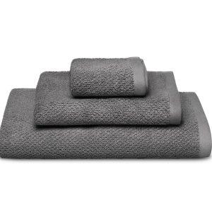 Handduk Honeycomb Ljusgrå