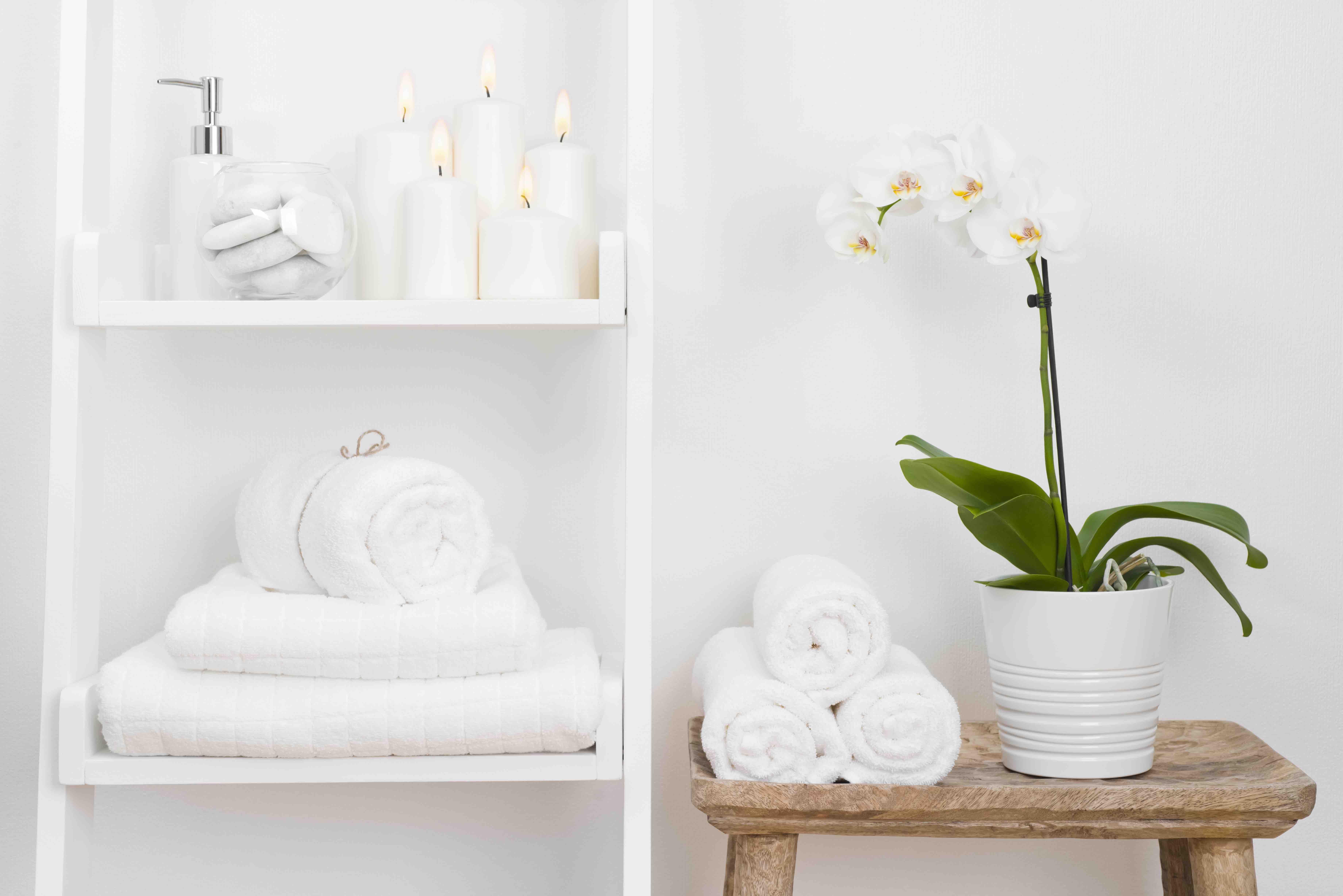 Förvara handdukar