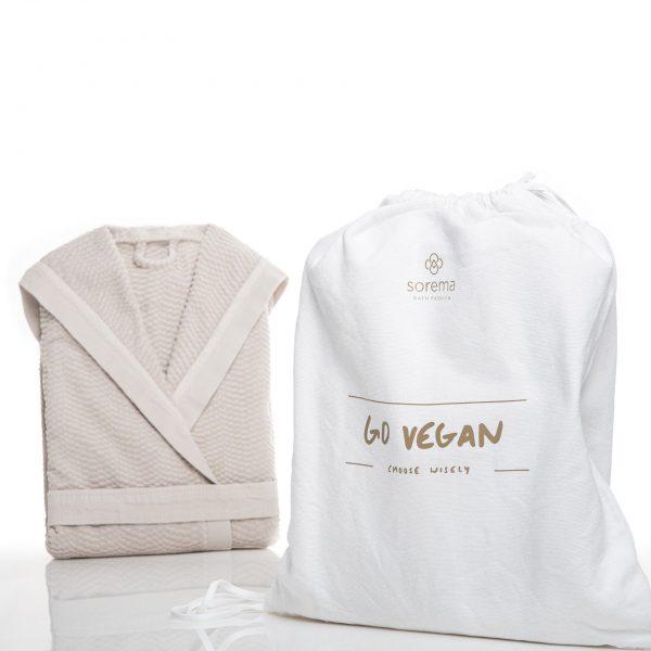 Bad och Morgonrock Go Vegan Vit